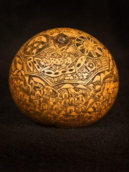 Photograph of etched ball