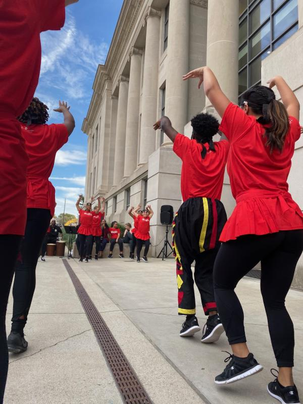 Photograph of the How Movement Moves dance performance
