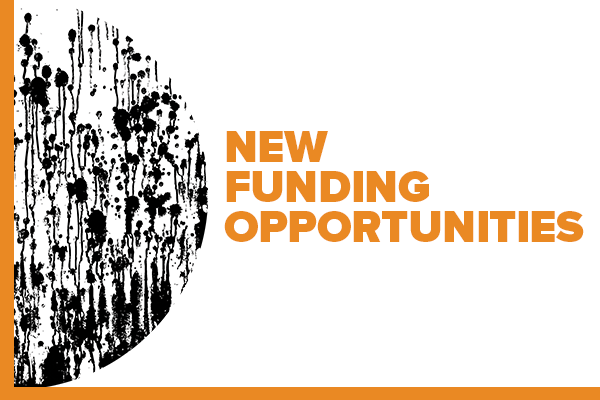 Illustration with text: New Funding Opportuntities