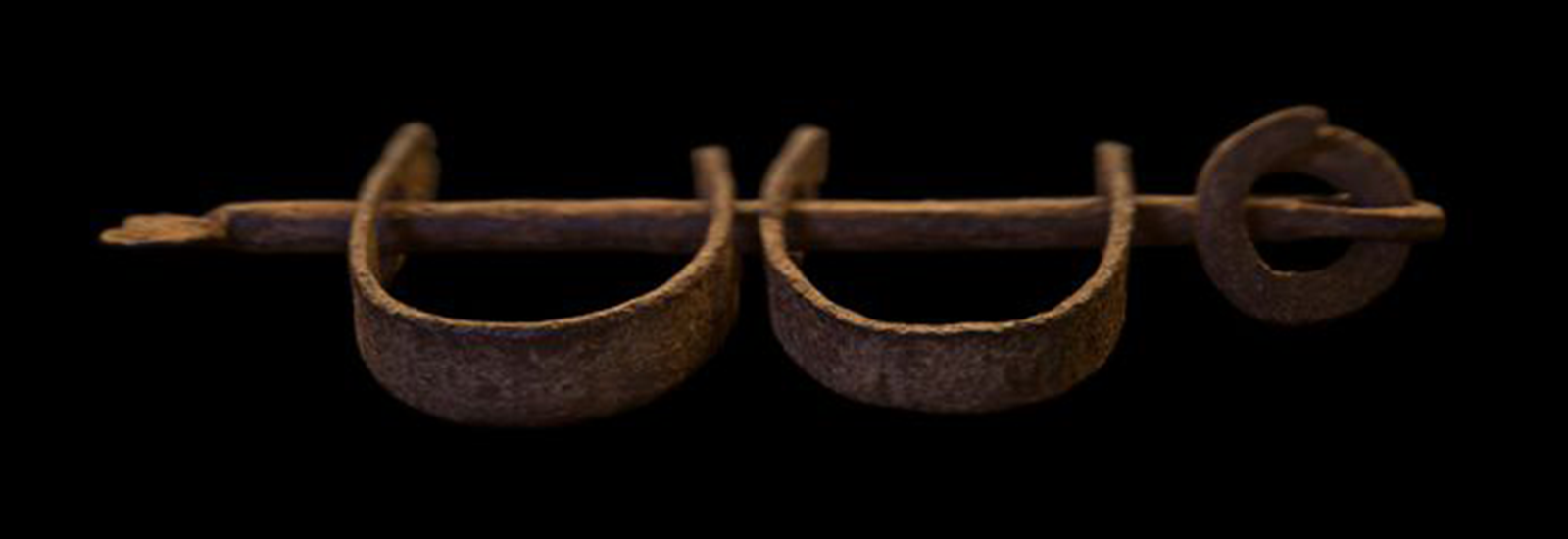 Photograph of iron slave shackles